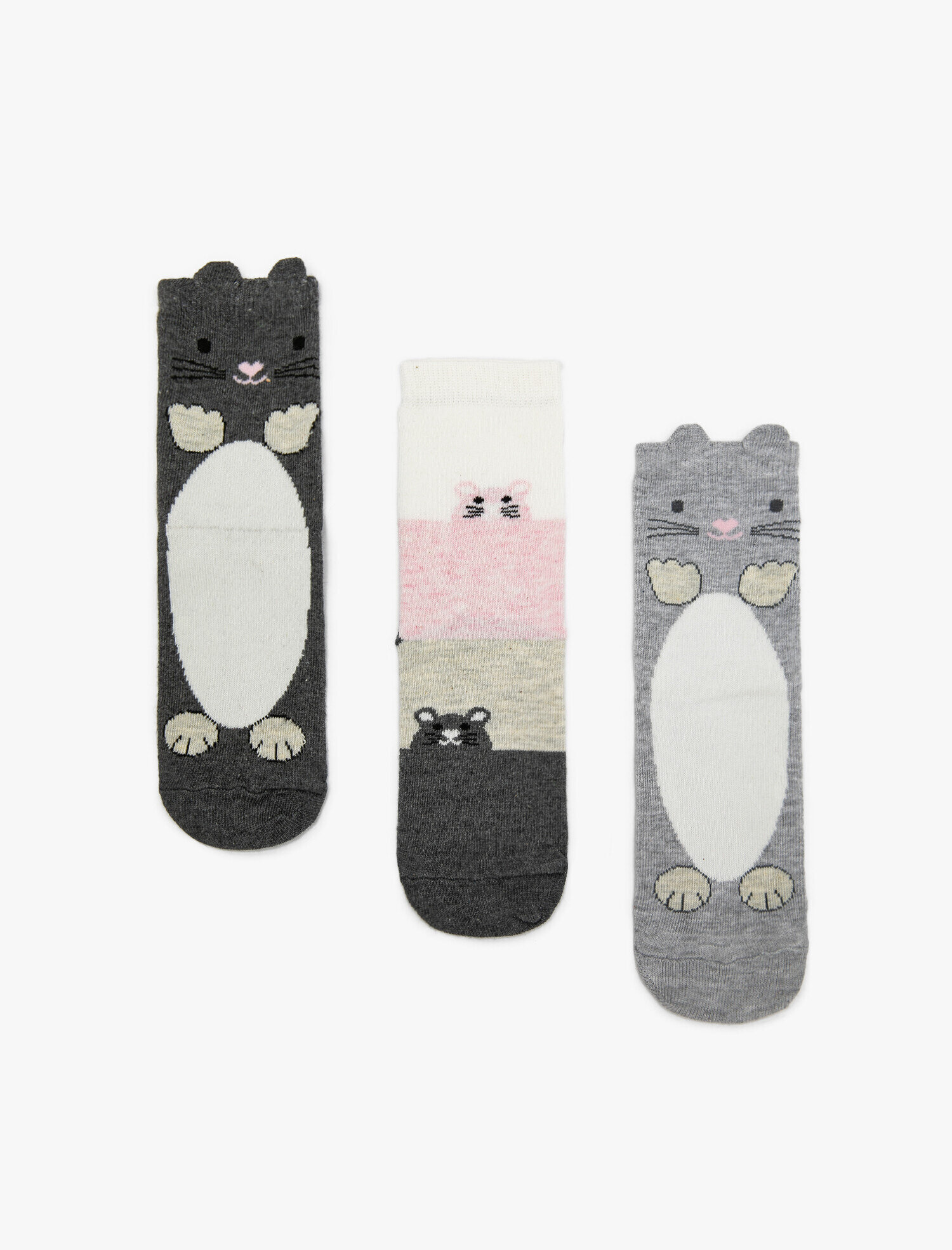 Kız Çocuk 3'lü Çorap