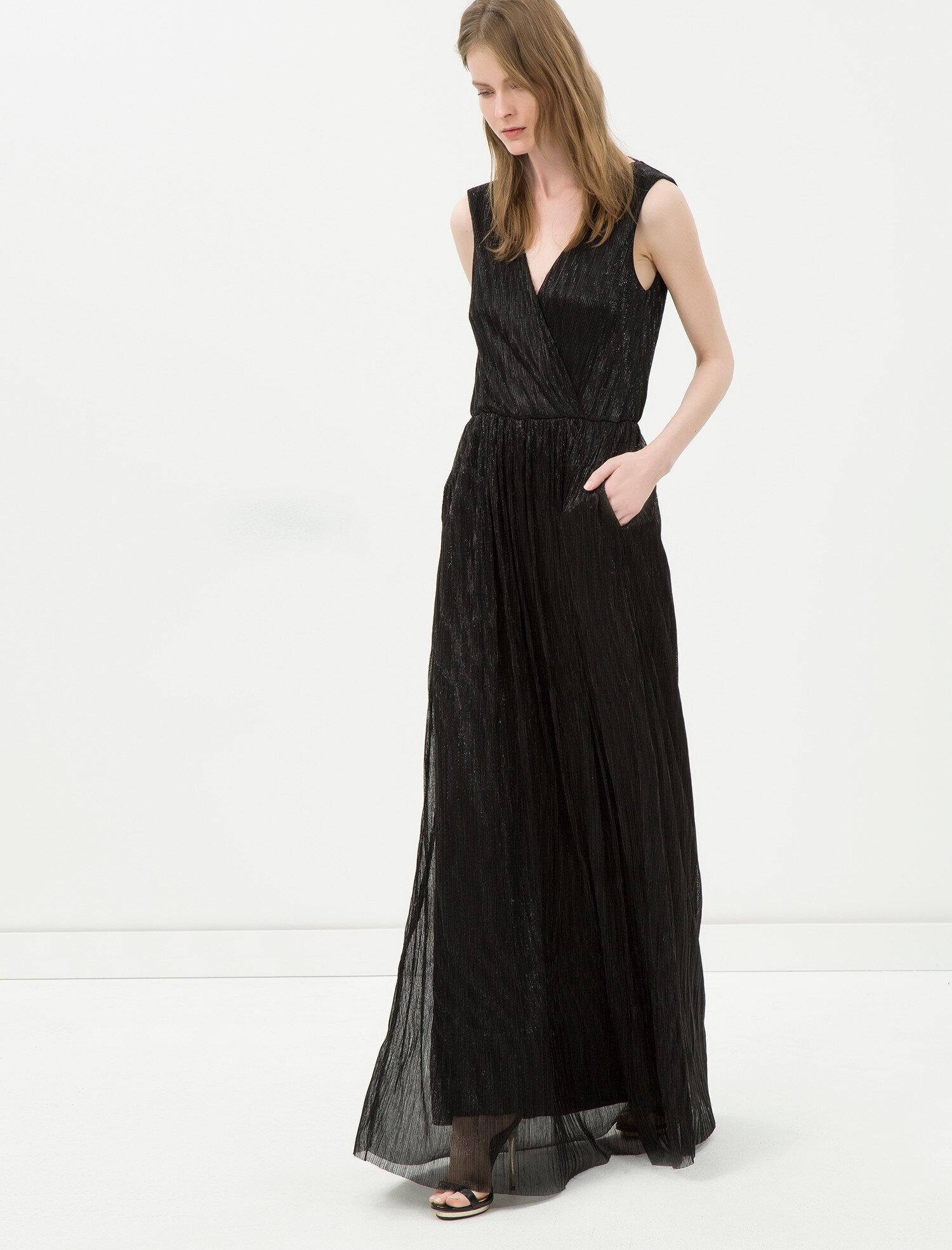 7bc9fd3687434 Siyah Bayan Uzun Elbise 6YAK84628FK999 | Koton