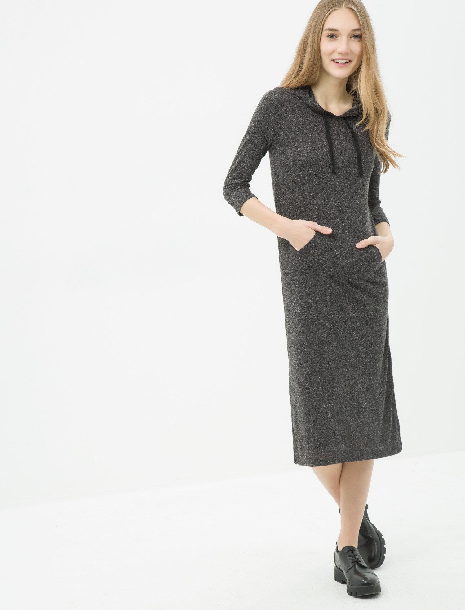 0f06a3965f1 Black Women Hooded Dress 6YAL81016OK999