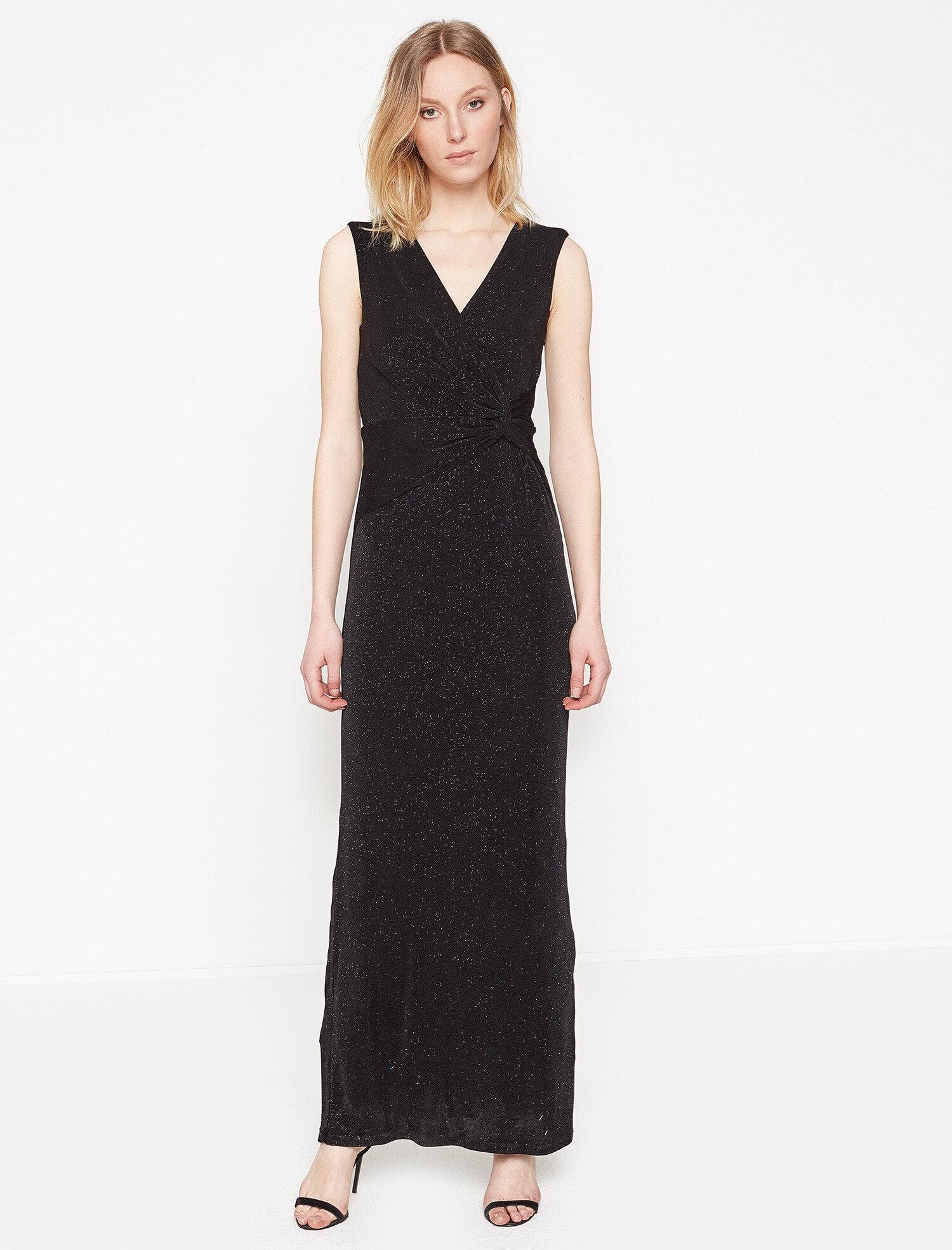 97f8c37b8dffc Siyah Bayan Uzun Elbise 7YAK84760FK999 | Koton