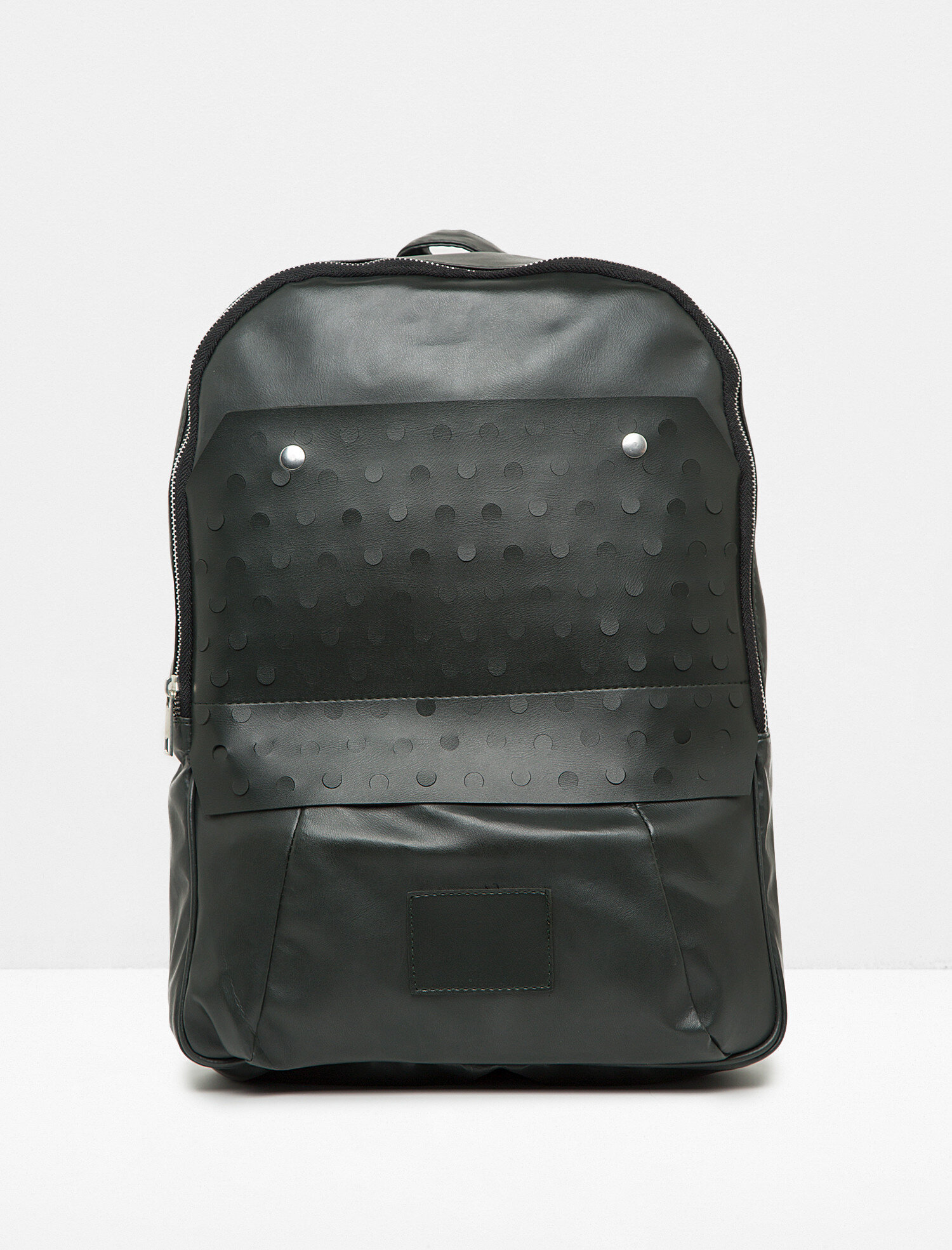 598717086 Black Men Leather Look Backpack 7YAM30152AA999T | Koton