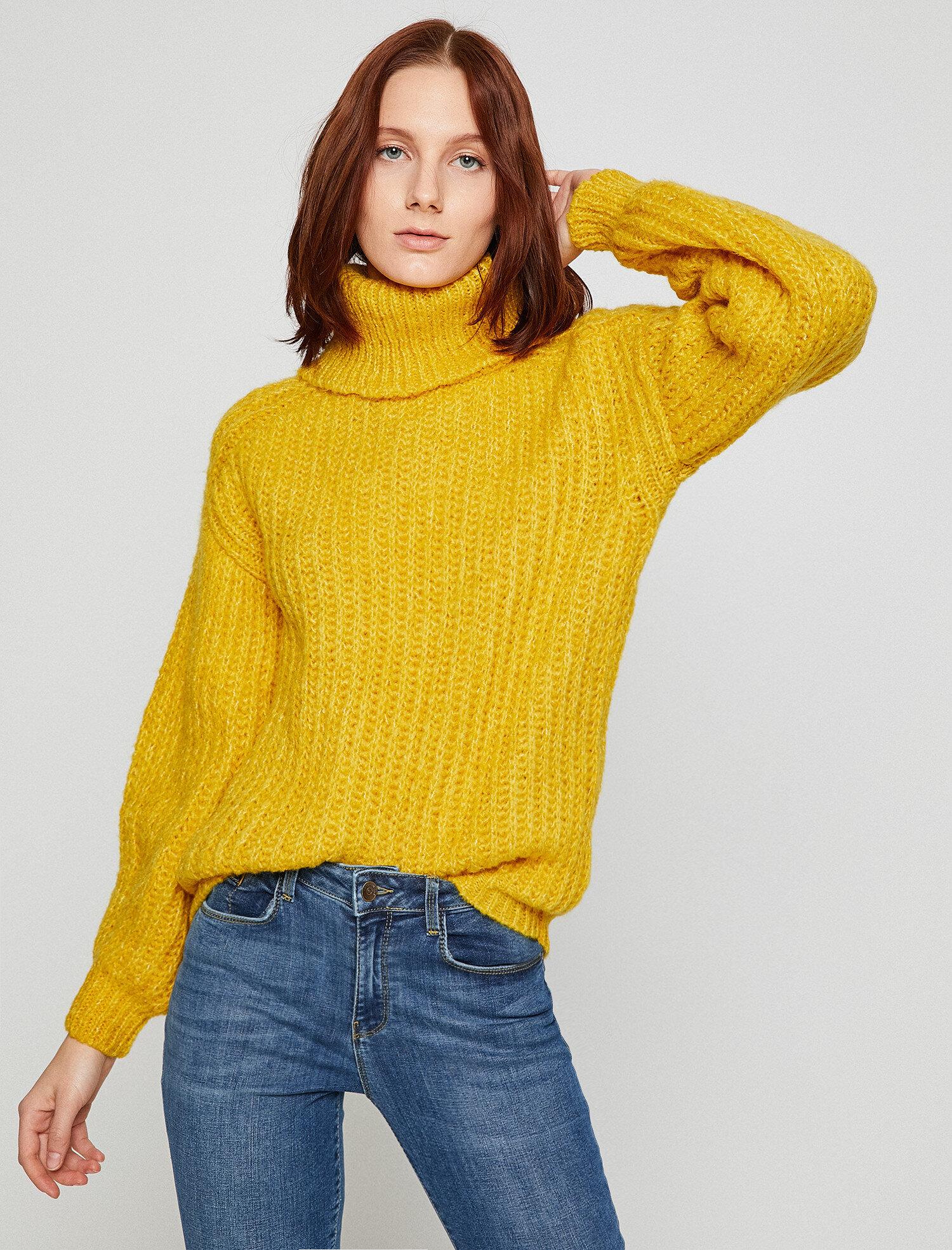 a6ba8a675e897b Mustard Women Knitted Jumper 8KAK92931HT159 | Koton