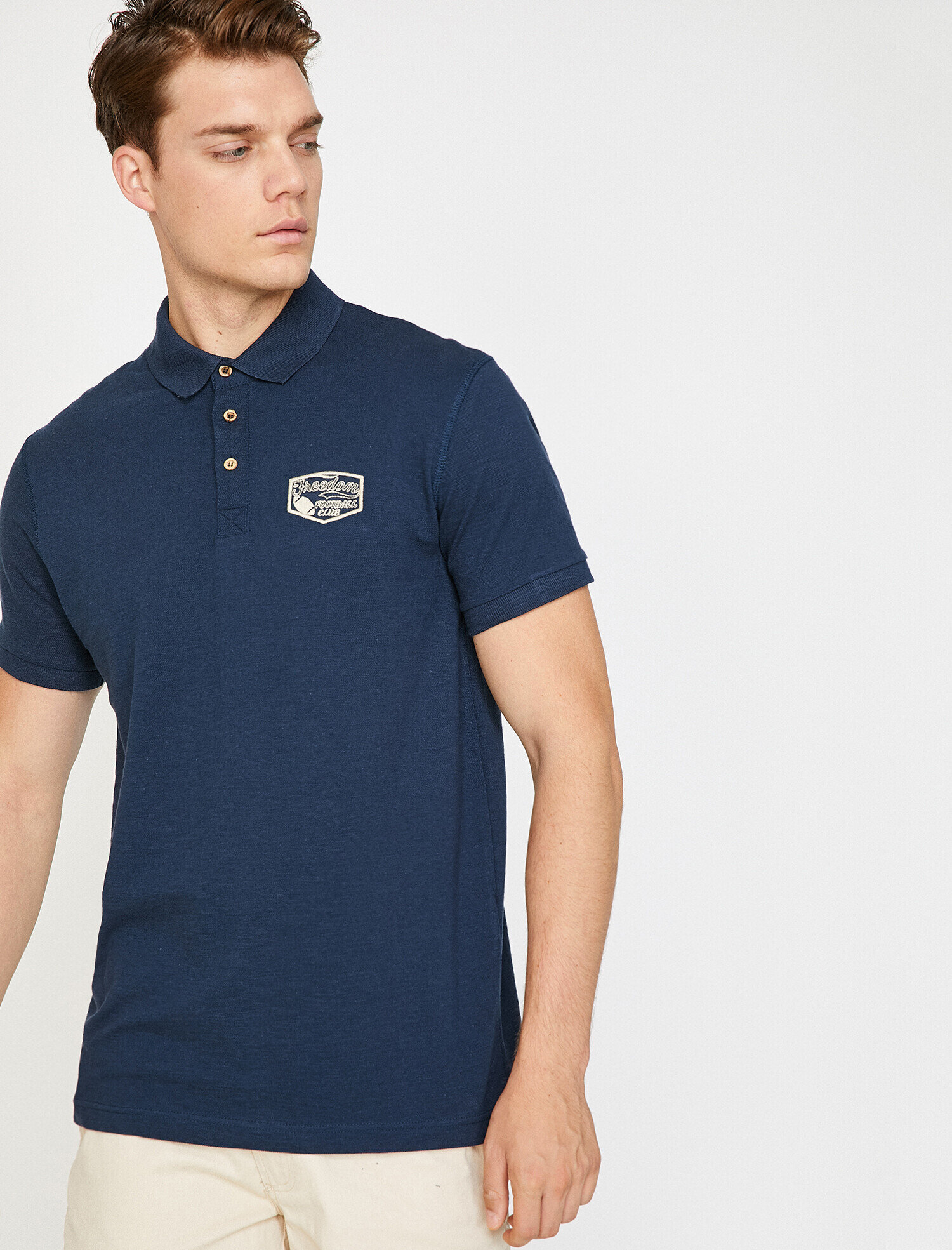 1782ddf5d545 Navy Men Polo Neck T-Shirt 8YAM14506OKNA1