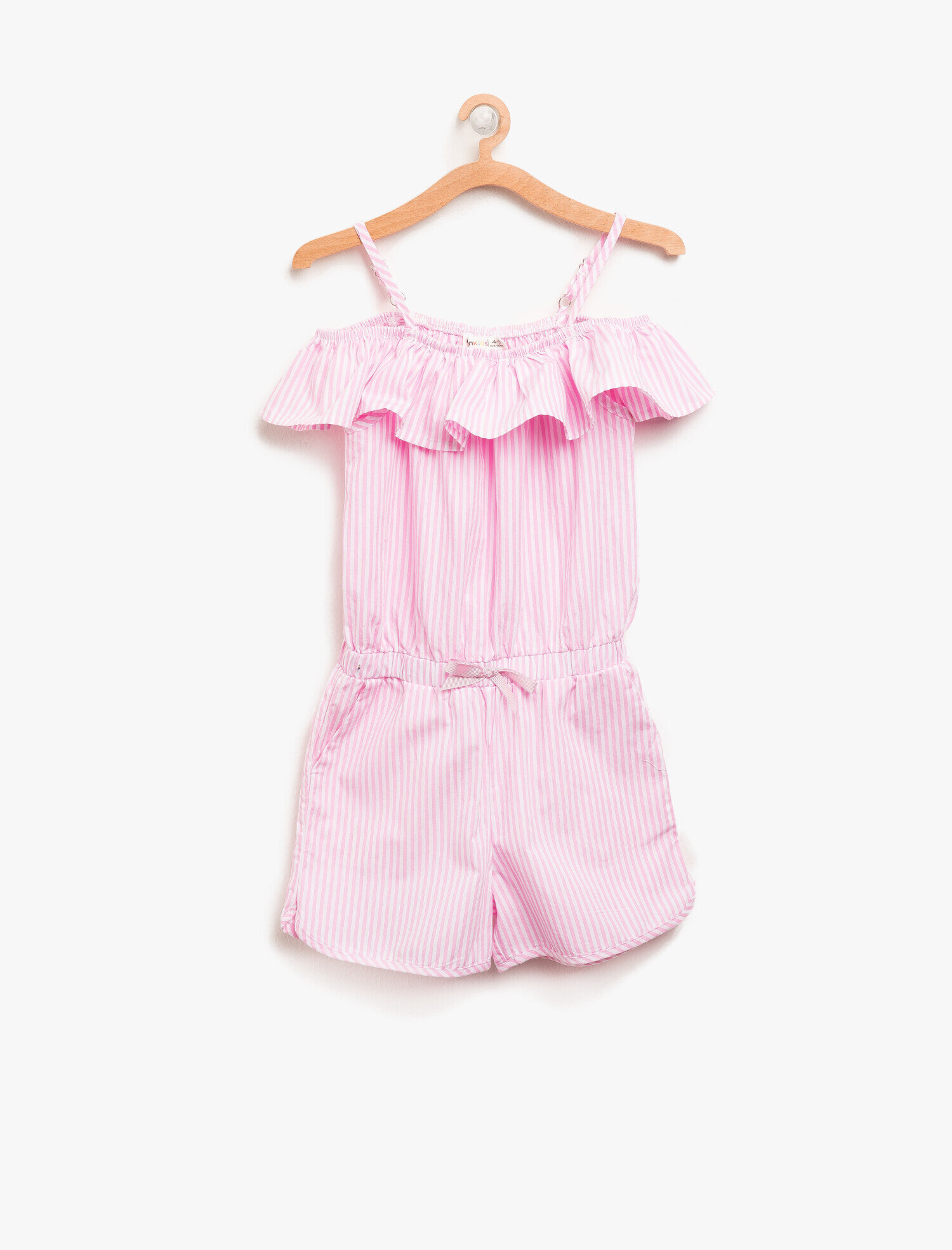 39acf0d8a82 Pink Striped Girls Striped Jumpsuit 8YKG47854OWBT7