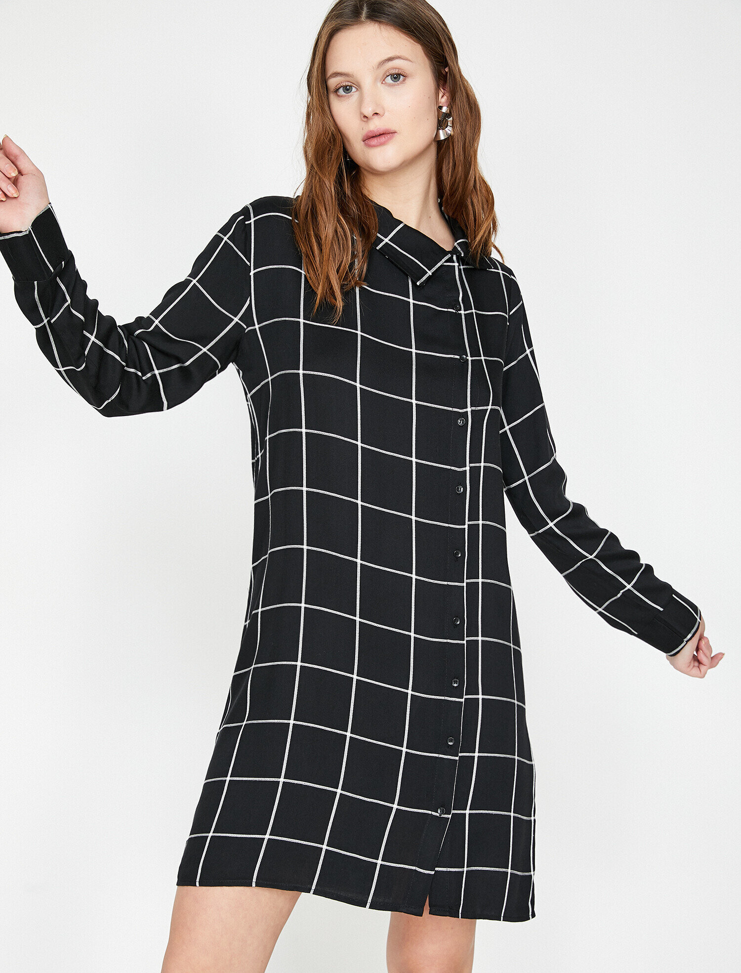 c76fe3e0064f Black Check Women Check Dress 9KAK83529EW21P