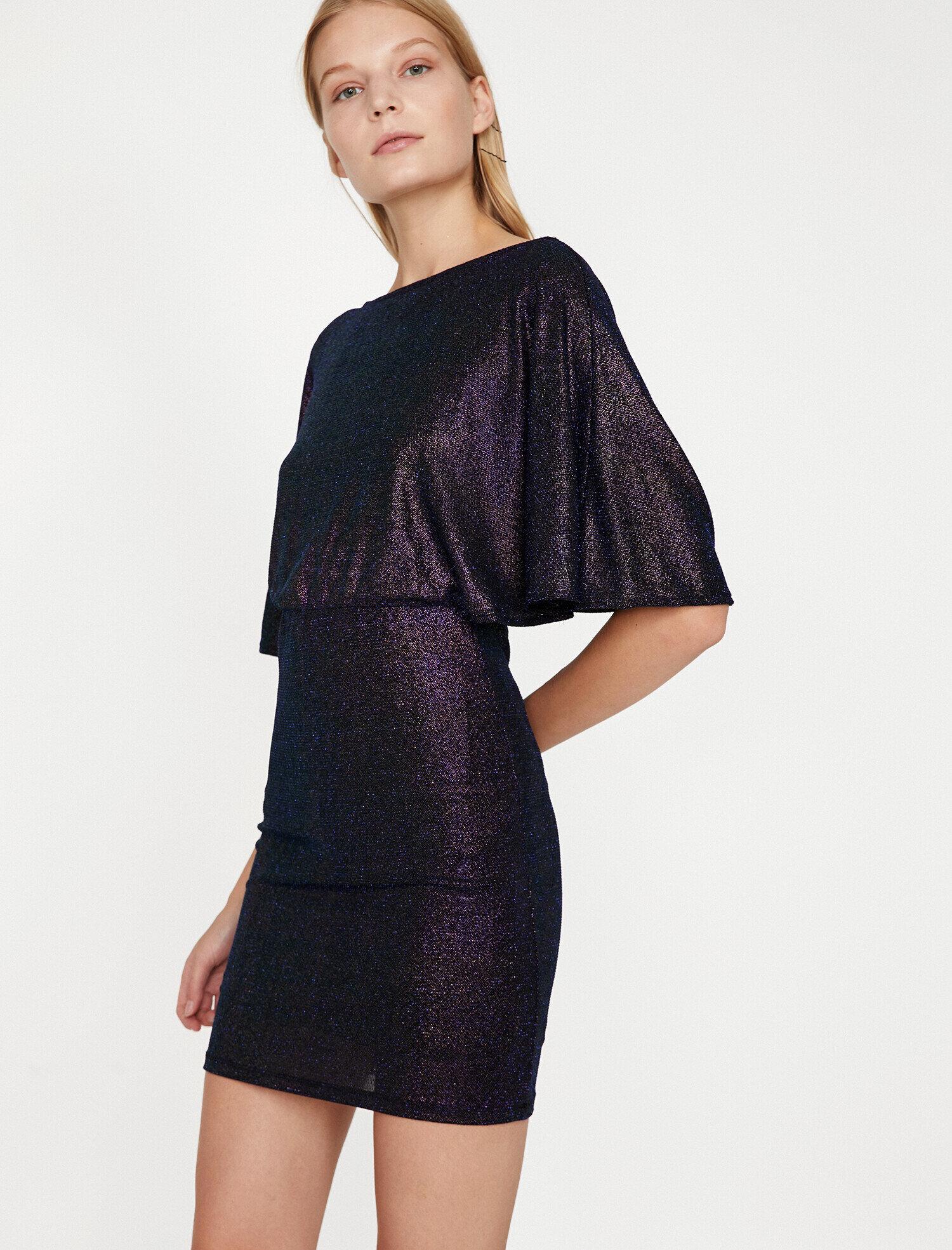 1ffd54a874751 Multi Women Shimmer Detailed Dress 9KAK84949FK913 | Koton
