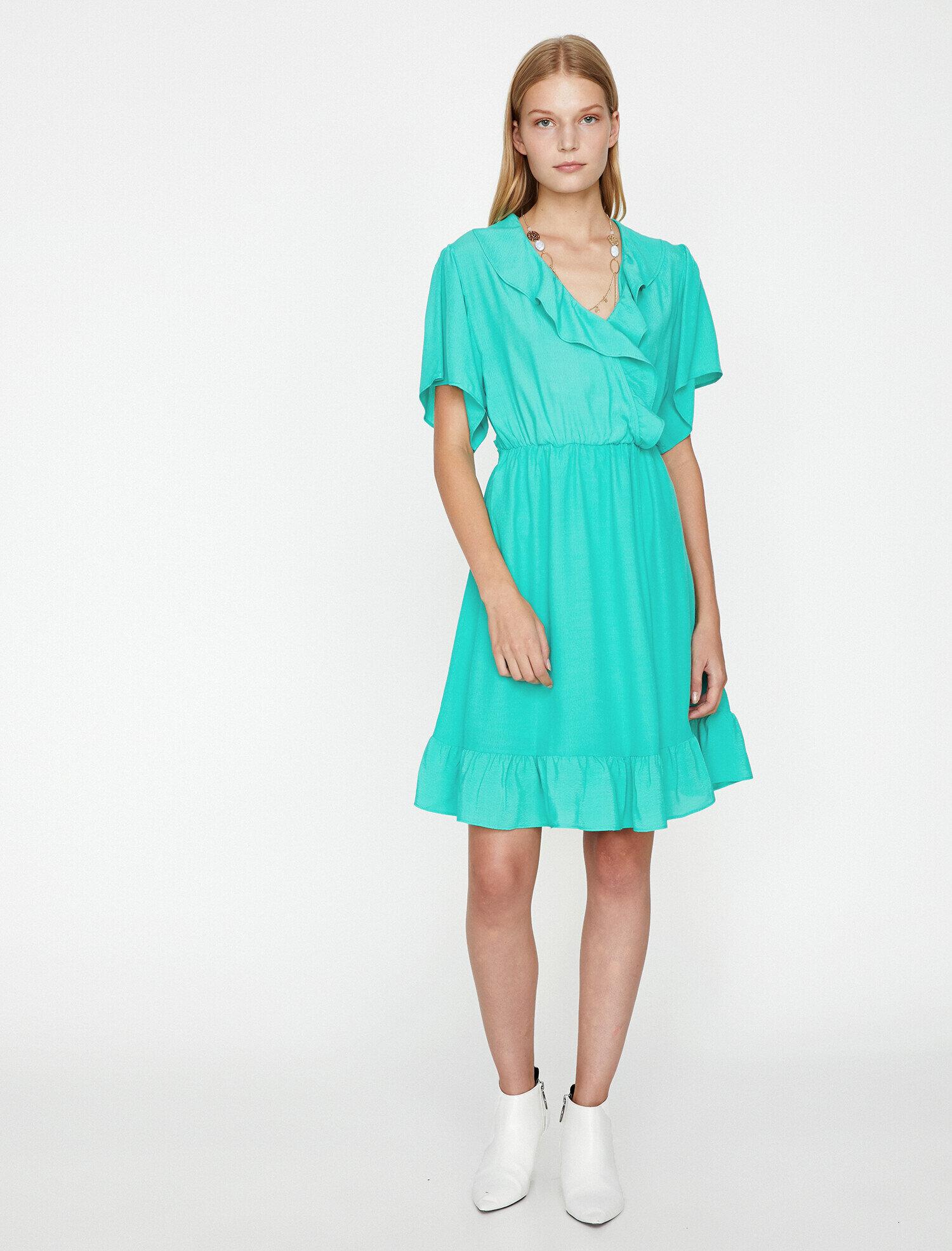 f503c7332cce7 Yeşil Bayan Desenli Elbise 9KAK88816PW803 | Koton