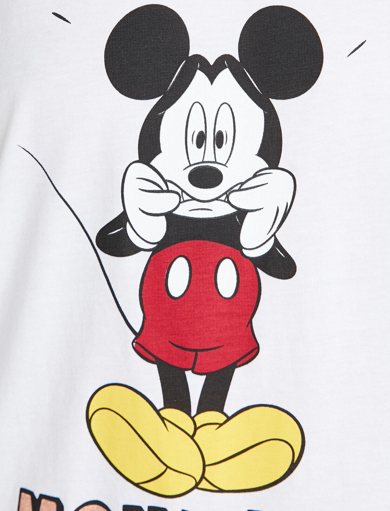 Red Women Mickey Mouse Licensed Printed Pyjama Sets 9klk79108mk12u