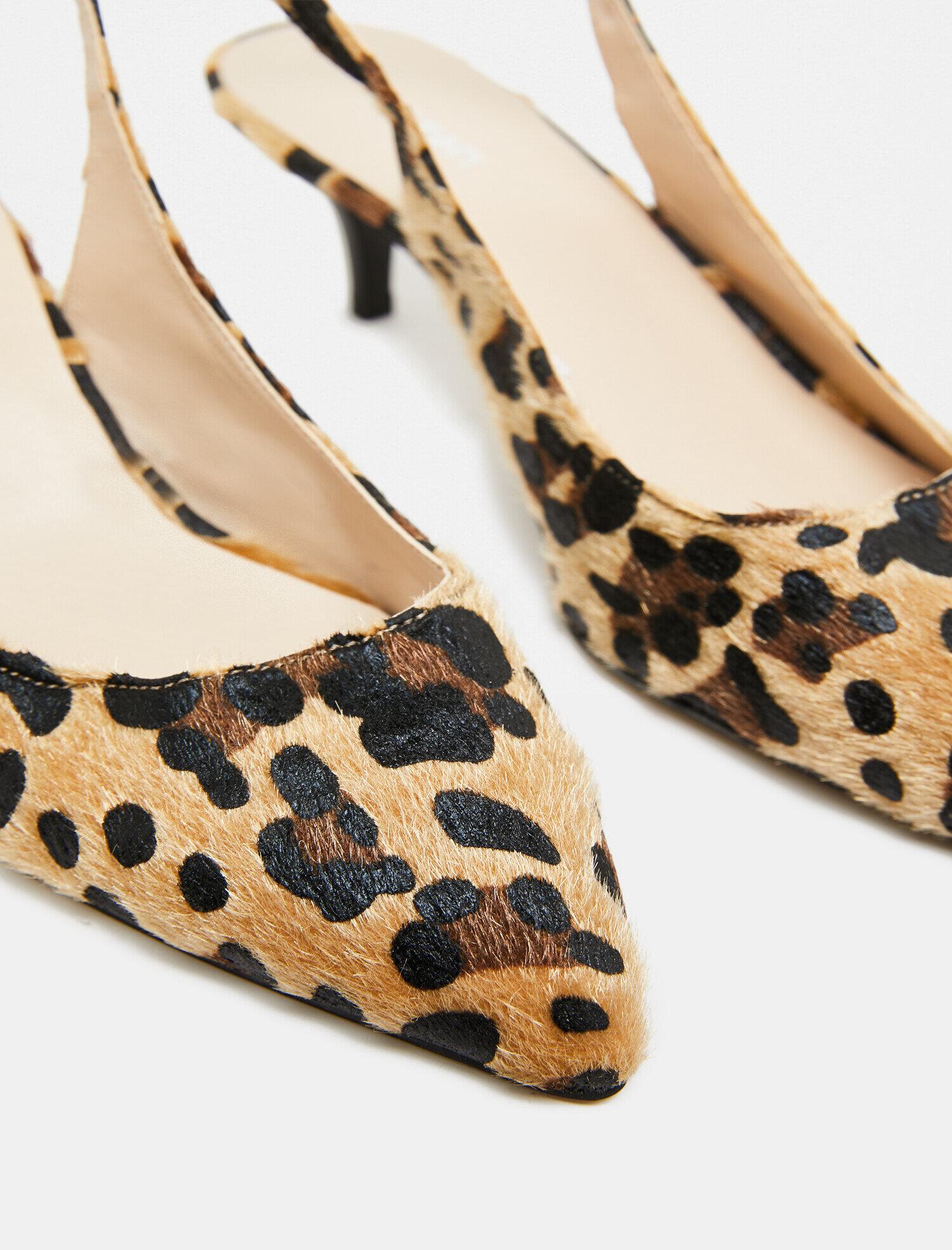 d98535efb9474 Modalite - Koton Leopar Desenli Topuklu Ayakkabı Taba