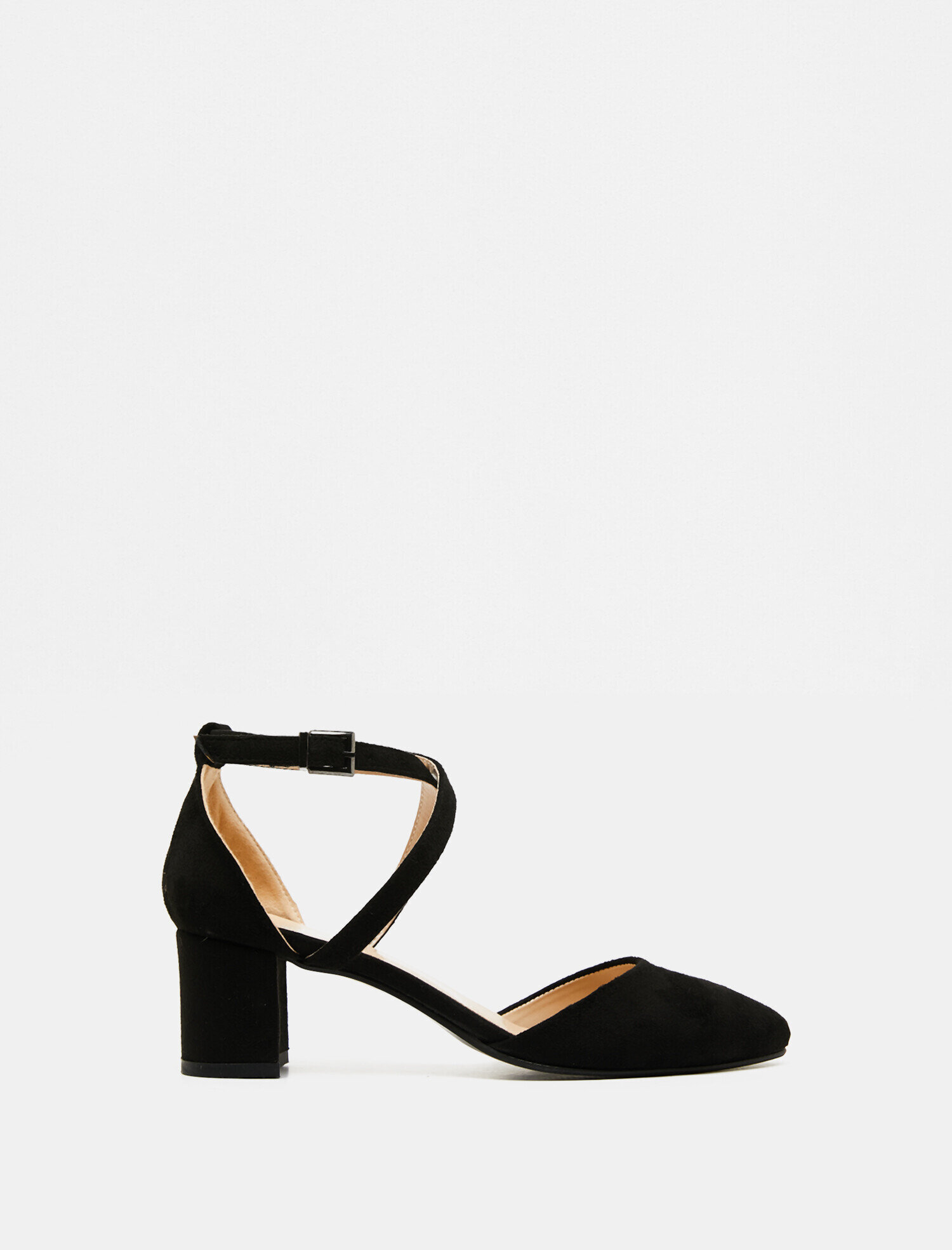 52549c0b73205 Siyah Bayan Toka Detaylı Topuklu Ayakkabı 9YAK27001AA999   Koton