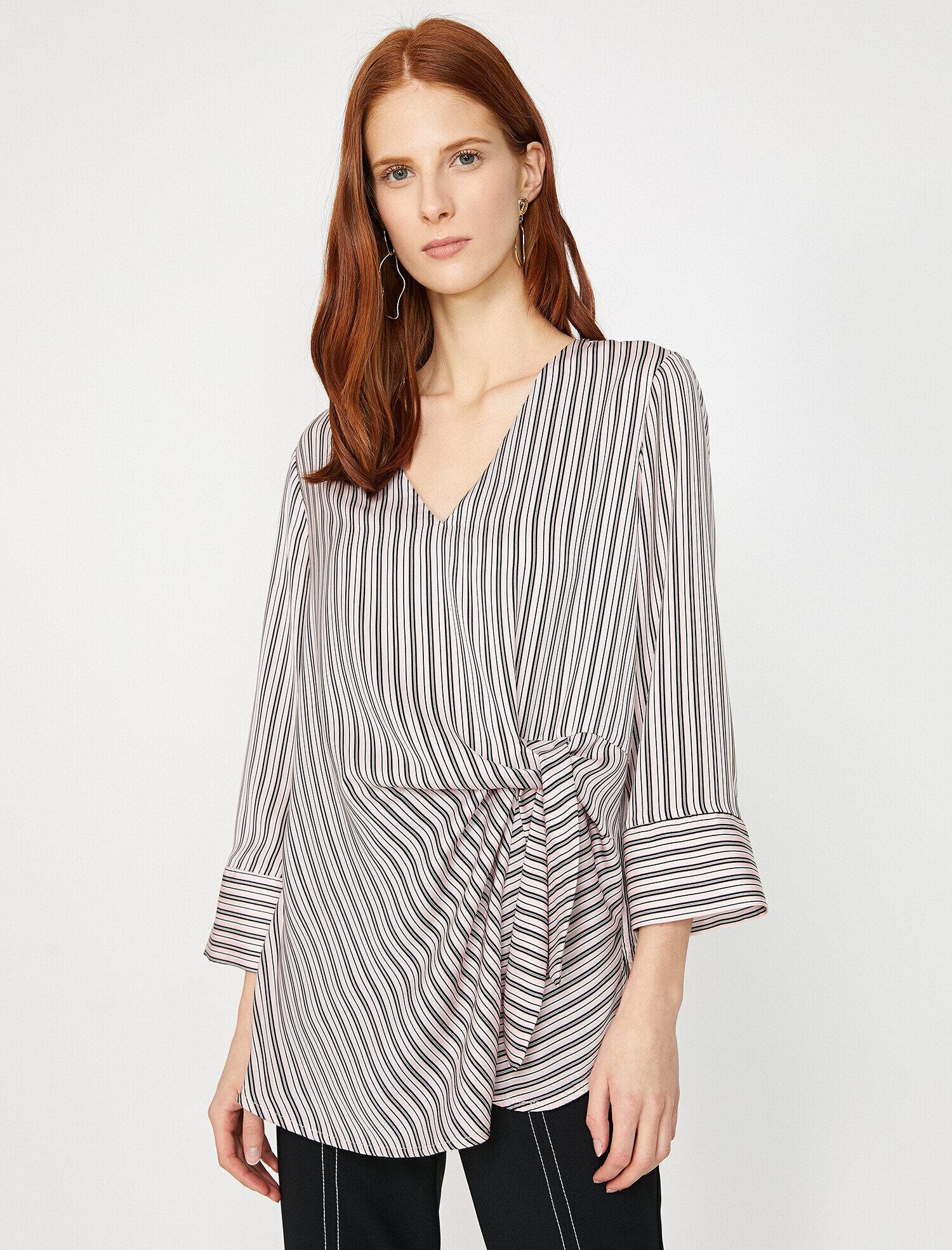 5cc53932f67db3 Pink Striped Women Striped Blouse 9YAK68660PWBT7 | Koton