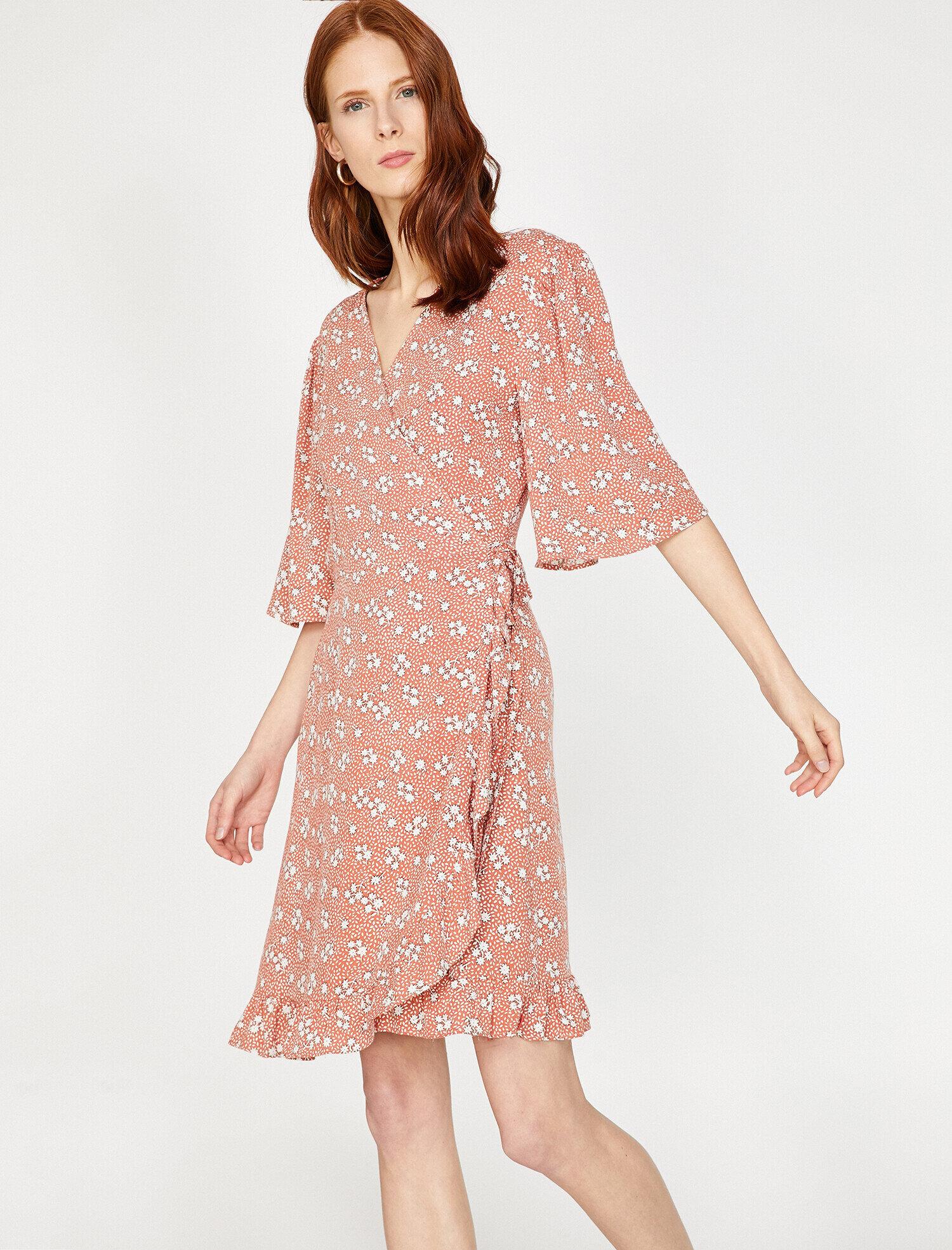 7d6f21201188 Pink Women Patterned Dress 9YAK88149PWA04 | Koton