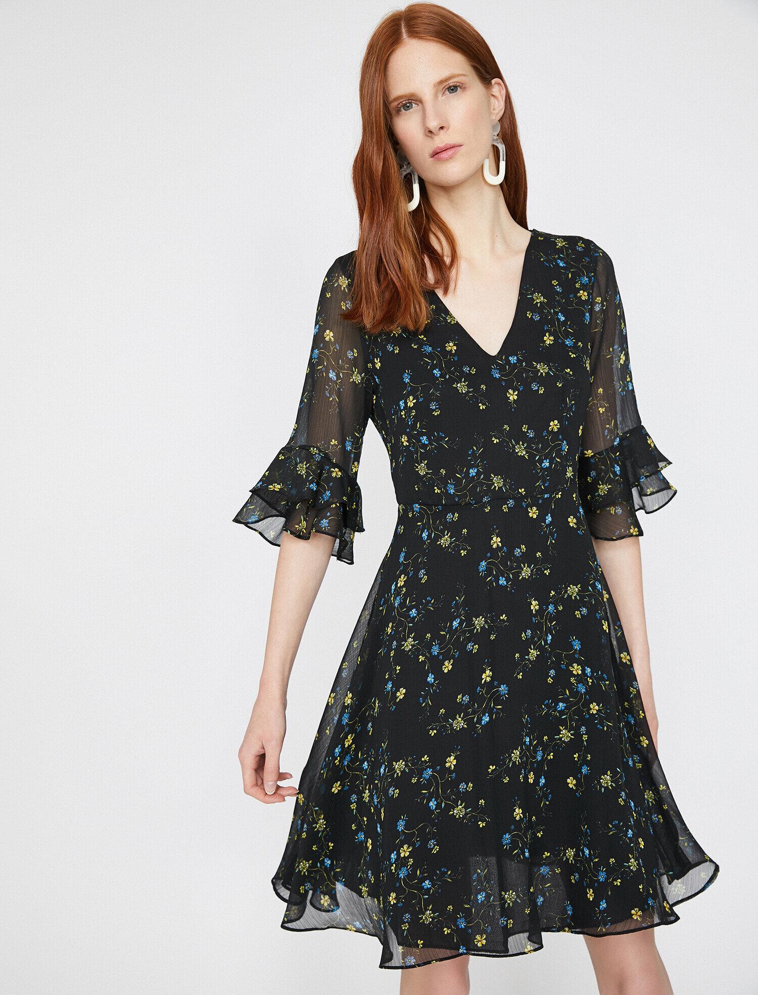 4323a0a059c32 Siyah Bayan The Floral Dress - Çiçek Desenli Elbise 9YAK88322PW03A ...