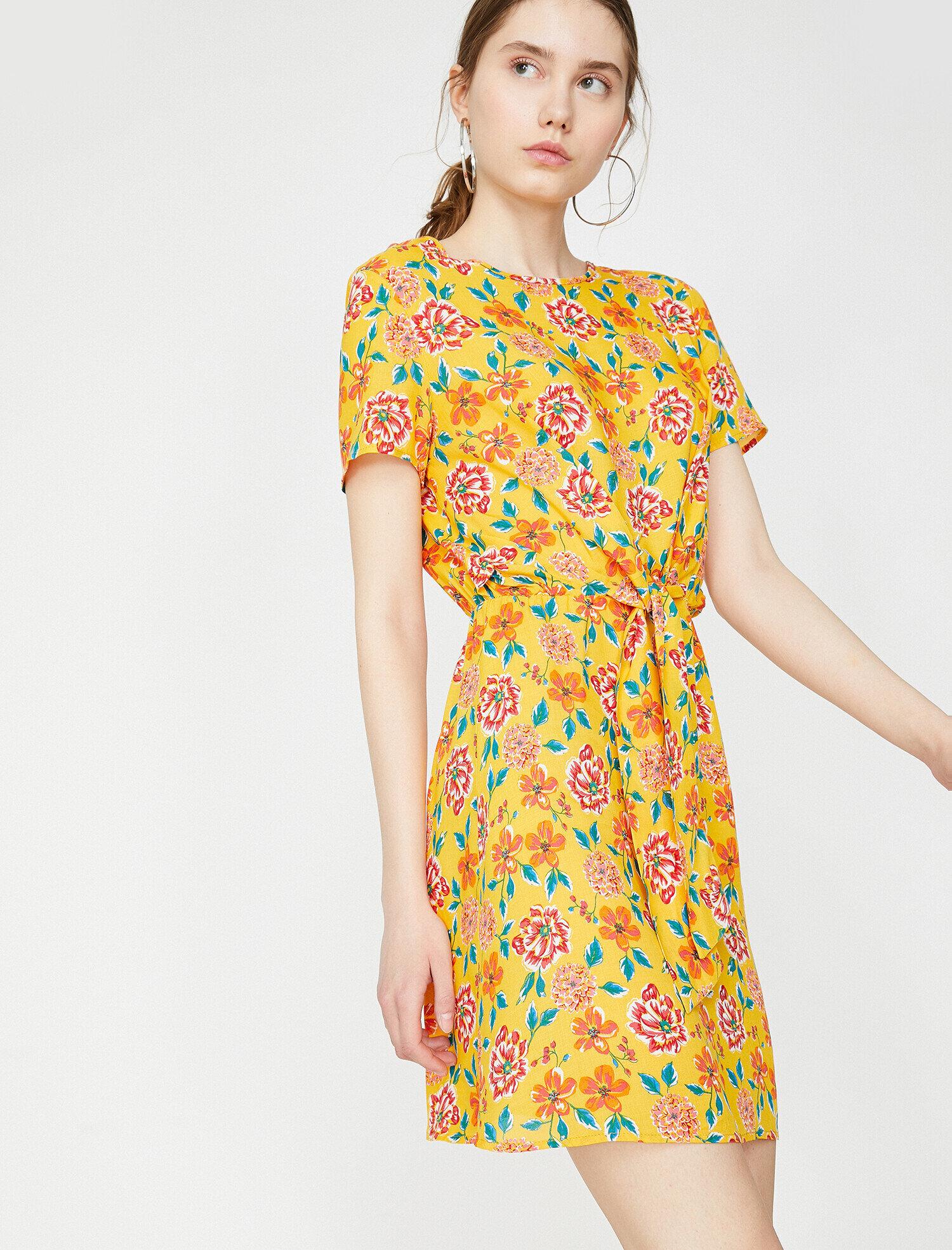 281250bc6eaed Sarı Bayan The Floral Dress - Çiçek Desenli Elbise 9YAL88263OW01U ...