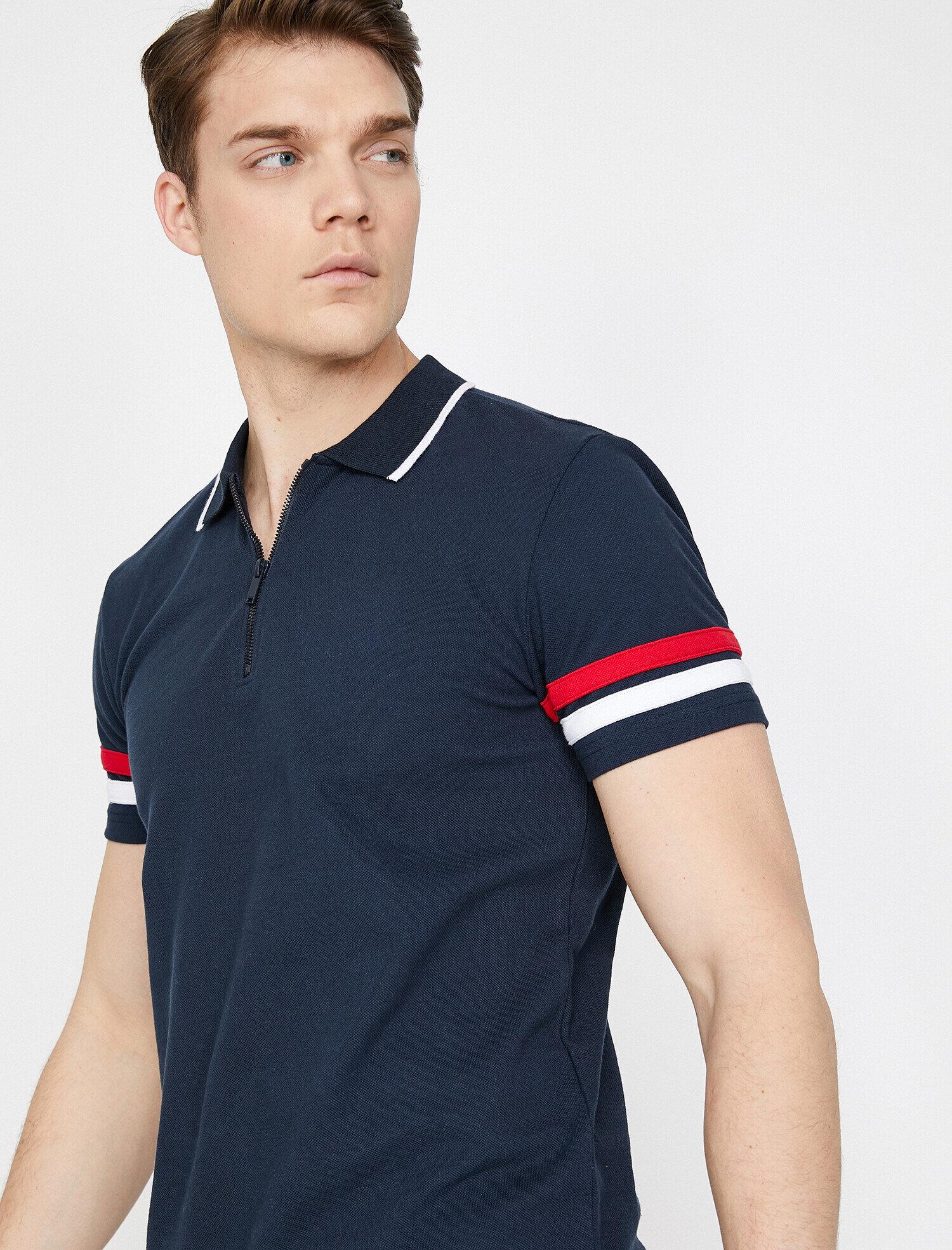 1710bbd19c97 Navy Men Polo Neck T-Shirt 9YAM11513LKNA1