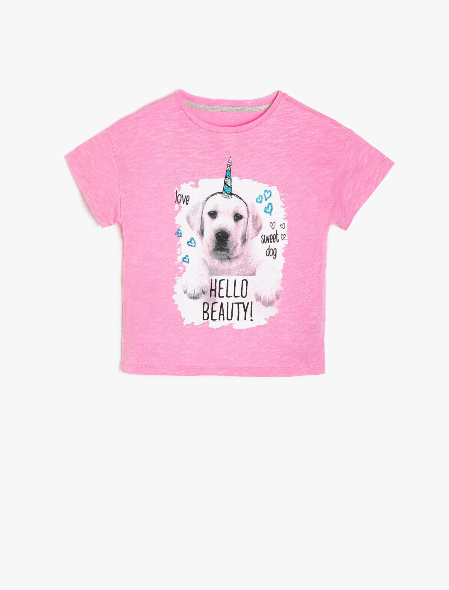 f4de5e8a7b0d2 Pink Girls Koton Kids Love T-Shirt 9YKG17919AKBT4   Koton