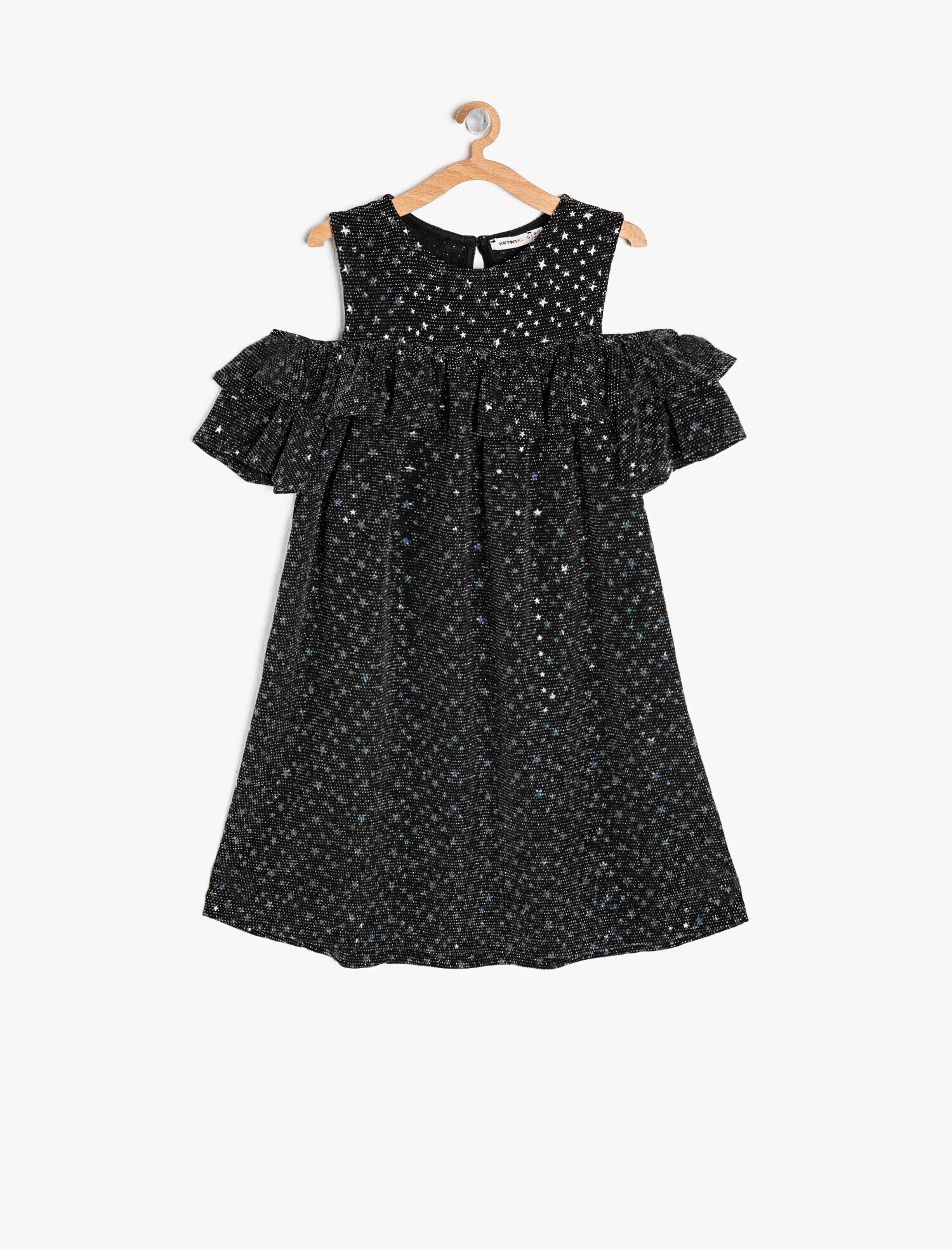 Siyah Kiz Cocuk Firfir Detayli Elbise 9ykg87655ak999 Koton