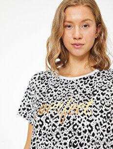 Leopar Desenli T-Shirt