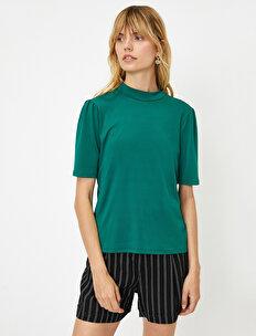 Yüksek Yaka T-Shirt