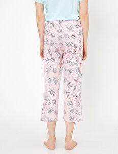Yazılı Baskılı Pijama Üstü