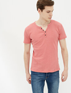 Button Detailed T-Shirt