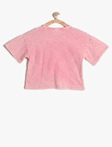Yazı Detaylı T-Shirt