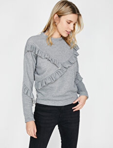 Frill Detailed Sweatshirt