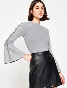 Kol Detaylı Sweatshirt