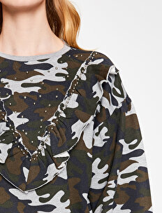 Camuflage Patterned Sweatshirt