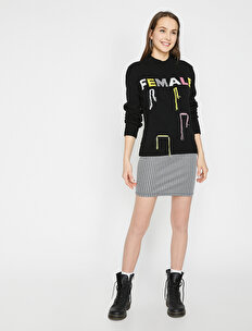 Letter Printed Sweaters