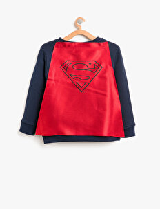 Superman Baskılı Sweatshirt