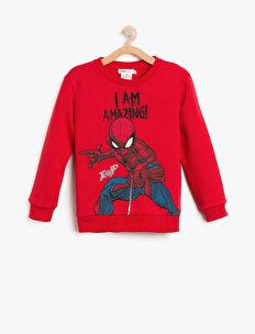 Spiderman Baskılı Sweatshirt