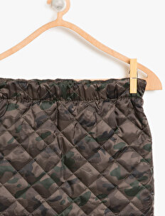 Camuflage Patterned Skirt