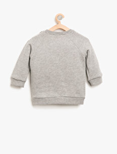 Aplike Detaylı Sweatshirt