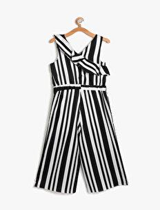 5c7553936b5 Black Striped Girls Striped Jumpsuits 8YKG87425OW02N
