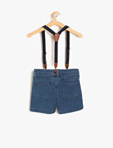 Belt Detailed Jean Shorts