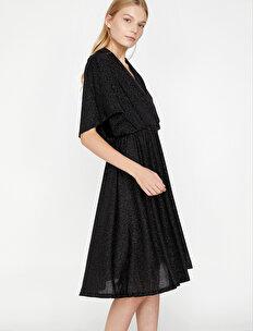 3c2ac72db9e2f Multi Women Shimmer Detailed Dress 9KAK84607FK913 | Koton