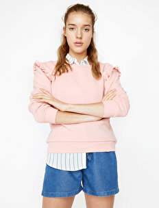 Fırfırlı Sweatshirt