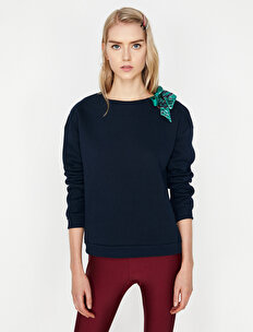 Omuz Detaylı Sweatshirt