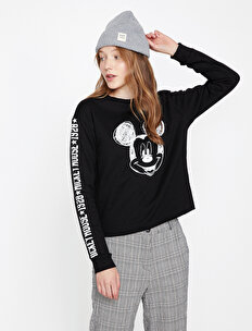 Mickey Mouse Baskılı Sweatshirt