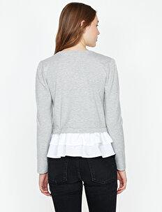 Fırfır Detaylı Sweatshirt
