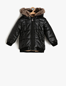 Faux Fur Detailed Coat