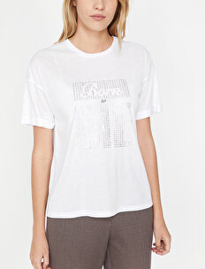 Printed Detailed T-Shirt