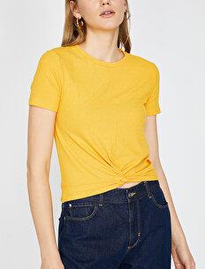 Büzgülü T-Shirt