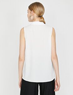 Neck Detailed Shirt