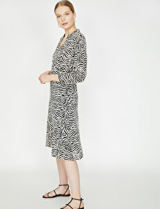 Zebra Patterned Dress