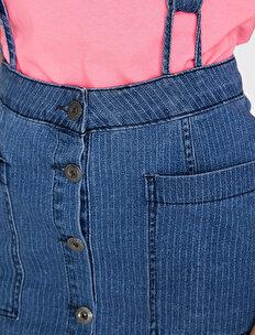Button Detailed Jean Dress