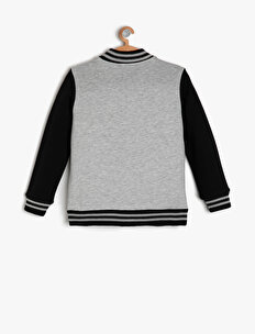 Button Detailed Sweatshirt