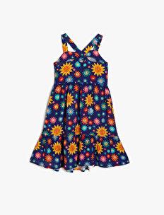 Powerpuff Girls Lisanslı Desenli Elbise