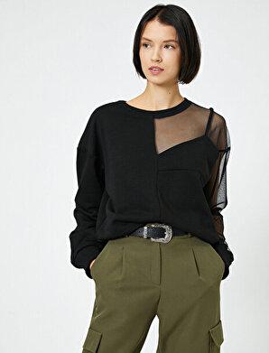 Koton Kadın Tül Detaylı Sweatshirt
